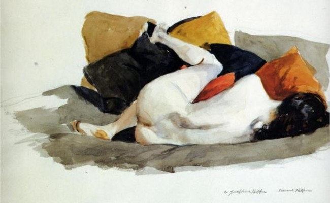 Edward Hopper - Reclining Nude